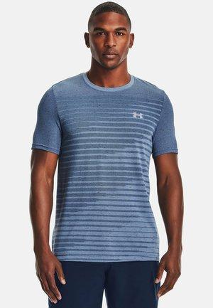 SEAMLESS FADE - Sports shirt - mineral blue