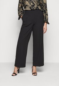 Selected Femme Curve - SLFDINNI WIDE PANT - Trousers - black - 0