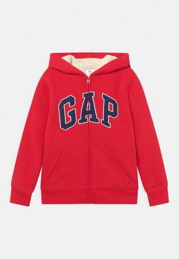 BOY COZY LOGO - Zip-up sweatshirt - pure red