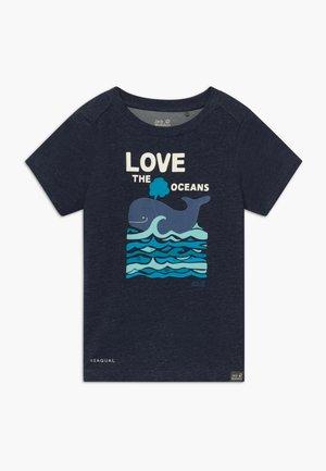 OCEAN KIDS - Triko spotiskem - night blue