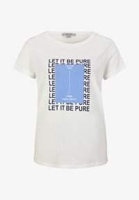 comma casual identity - MIT STATEMENT-PRINT - Print T-shirt - white pure print - 4