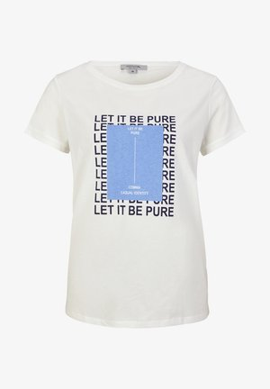 MIT STATEMENT-PRINT - Print T-shirt - white pure print