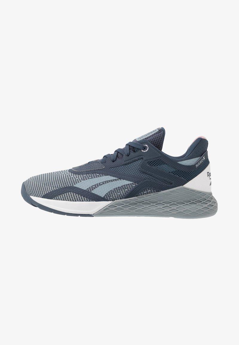 Reebok - NANO X - Trainings-/Fitnessschuh - metallic grey/indigo/white
