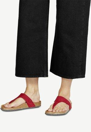 T-bar sandals - scarlet