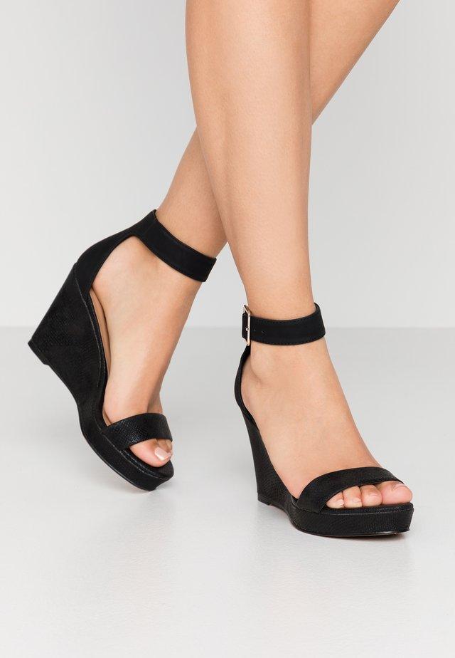 JOSSET - Korolliset sandaalit - black