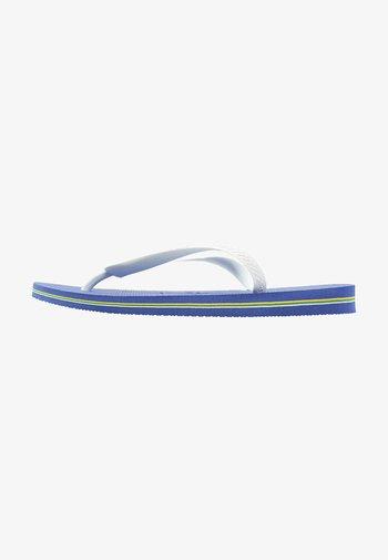 BRASIL LOGO - Pool shoes - blue, white