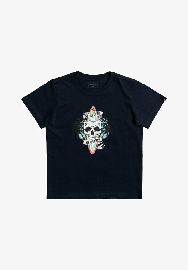 NIGHT SURFER - Print T-shirt - navy blazer