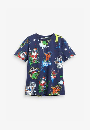 CHRISTMAS - Print T-shirt - blue