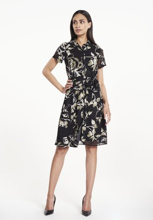 Shirt dress - rose print