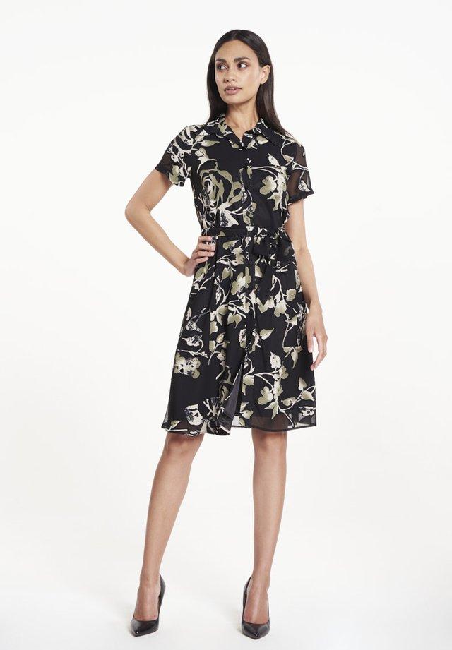 Shirt dress - rose print