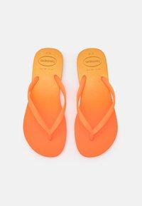 SLIM FIT GRADIENT FLUO - T-bar sandals - white/fluorescent confeti