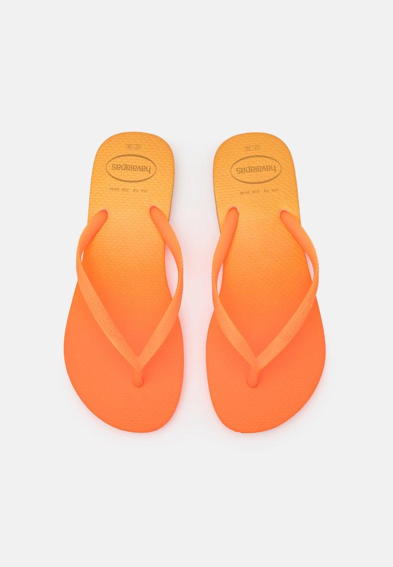 Havaianas - SLIM FIT GRADIENT FLUO - Sandály s odděleným palcem - white/fluorescent confeti