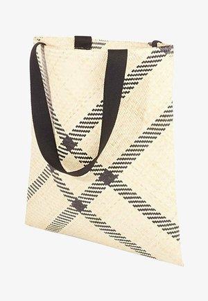 Handbag - natur mit schwarzen streifen