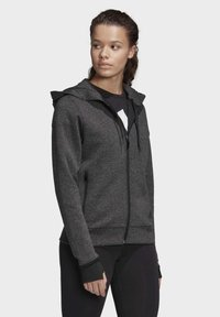 adidas Performance - MUST HAVES VERSATILITY HOODIE - Collegetakki - black - 3