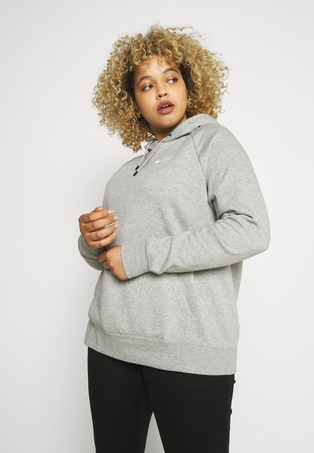 HOODY - Sweat à capuche - grey heather/white