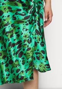 Simply Be - MIDI SKIRT - A-line skirt - green - 4