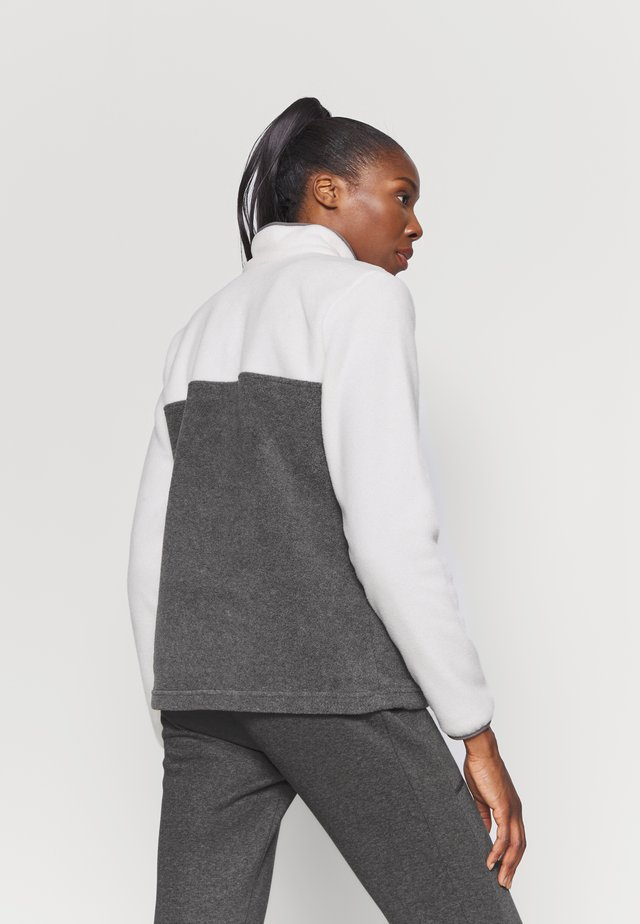 BENTON 1/2 SNAP - Felpa in pile - city grey heather/chalk