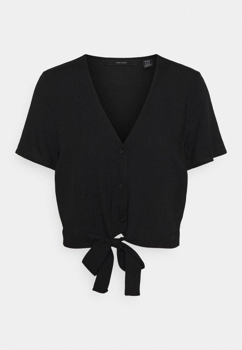 Vero Moda - VMSIMPLY EASY TIE  - T-shirt print - black