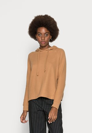 BRUSHED  HOODIE - Sweter - soft camel