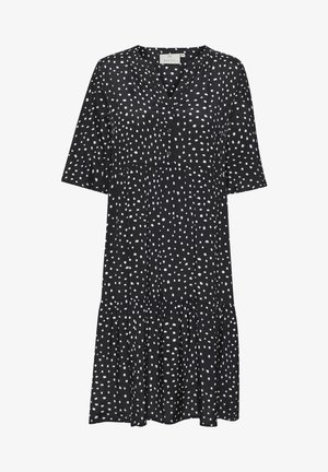 BPKALA - Vestido camisero - black / chalk dot print