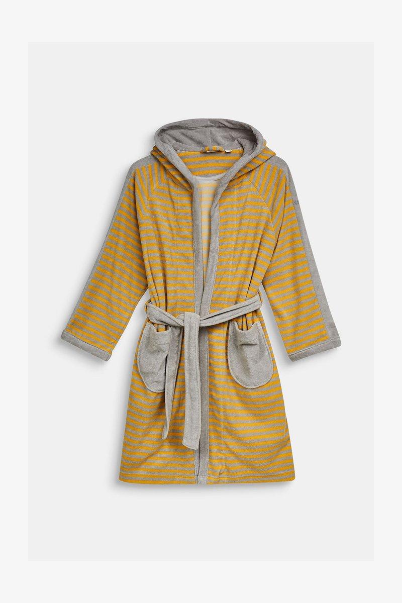 Esprit - KINDER-BADEMANTEL MIT ZIPFELMÜTZE - Dressing gown - stone