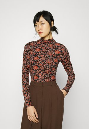LONG SLEEVED HIGH NECK - Long sleeved top - red