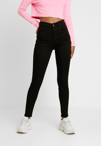 Pieces - PCNORA STAY - Slim fit jeans - black - 0