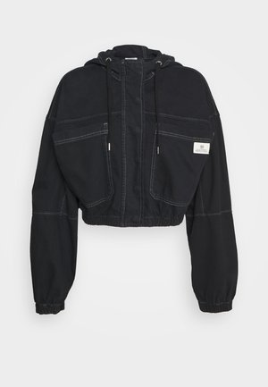 JARED HOODED JACKET - Denim jacket - black