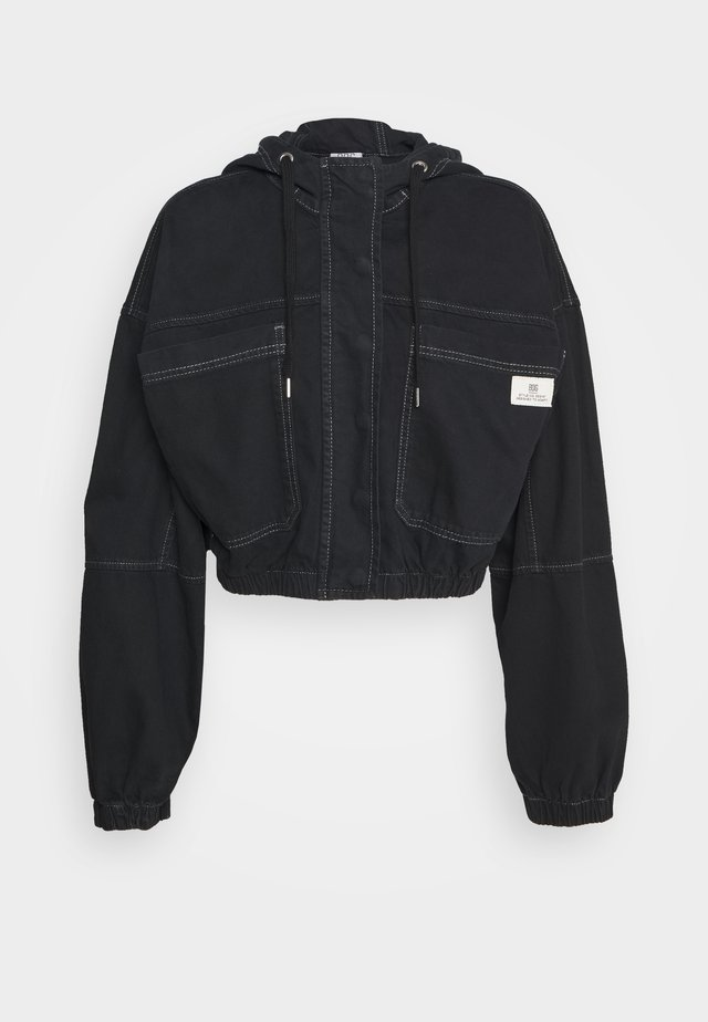 JARED HOODED JACKET - Giacca di jeans - black