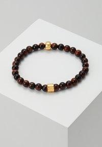 Northskull - SKULL BRACELET - Armband - gold-coloured/brown - 2