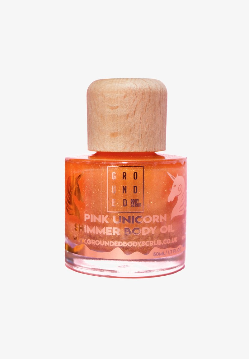 Grounded - UNICORN GLOW PINK SHIMMER OIL 50ML - Olej do ciała - pink/gold
