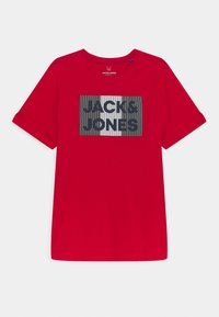 Jack & Jones Junior - JJECORP LOGO TEE CREW NECK - Print T-shirt - true red - 0
