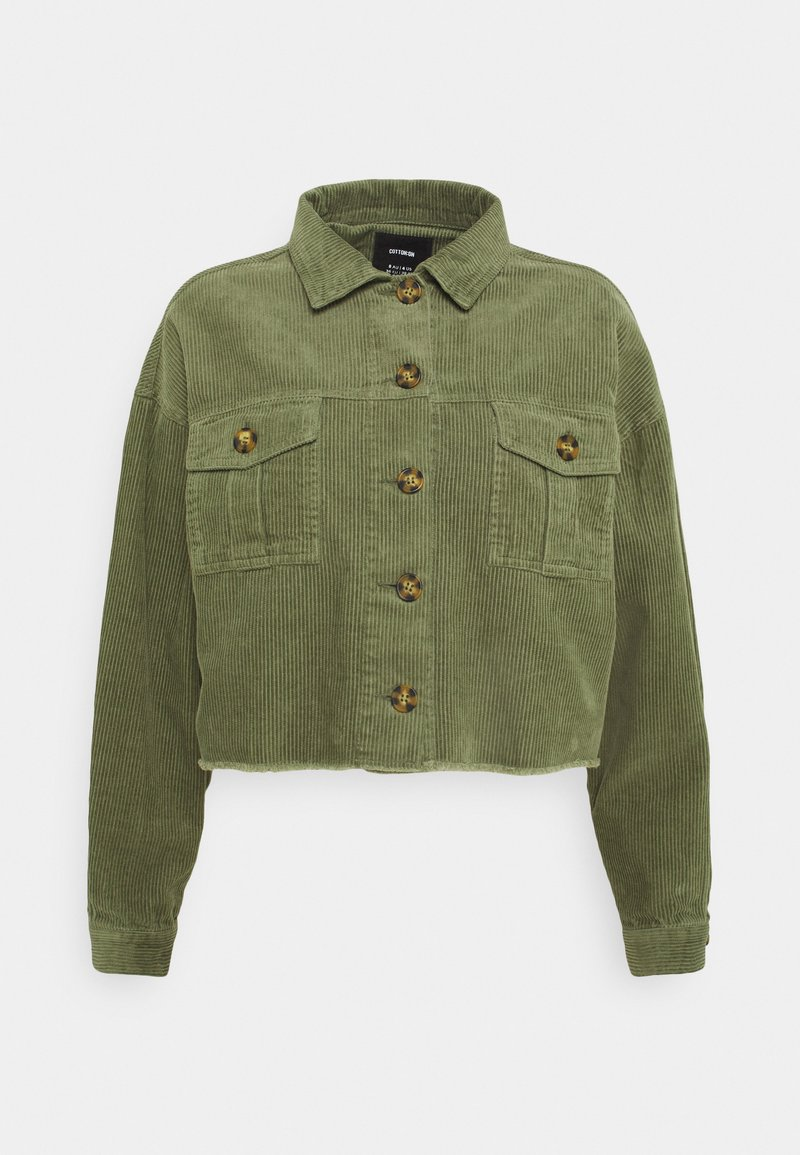 Cotton On - BUTTON SHACKET - Summer jacket - oil green