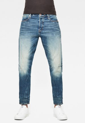 SCUTAR 3D SLIM TAPERED - Jeans Tapered Fit - antic faded baum blue