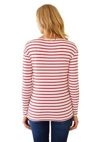 Vertbaudet - Long sleeved top - rot weiß gestreift - 2