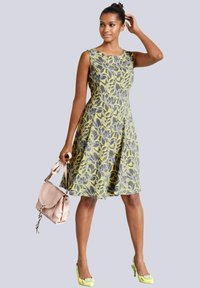 Alba Moda - Day dress - dunkelgrau,gelb,hellgrau - 1
