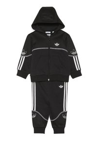 adidas Originals - OUTLINE FZ HOOD - Sudadera con cremallera - black/white - 0