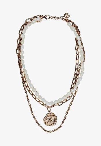 MIT KUNSTPERLEN - Necklace - gold-coloured