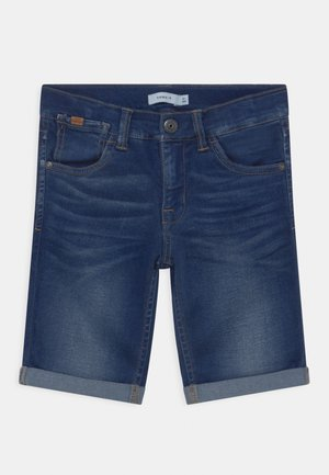 NKMSOFUS - Denim shorts - dark blue denim