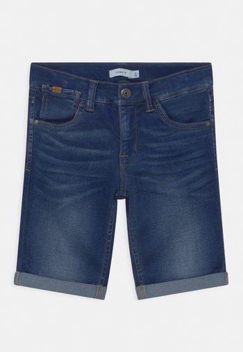 NKMSOFUS - Denim shorts - dark blue denim