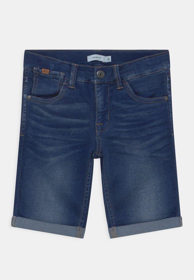 NKMSOFUS - Jeans Short / cowboy shorts - dark blue denim
