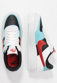 Nike Sportswear - AIR FORCE 1 SHADOW - Trainers - summit white/chile red/bleached aqua/black - 3