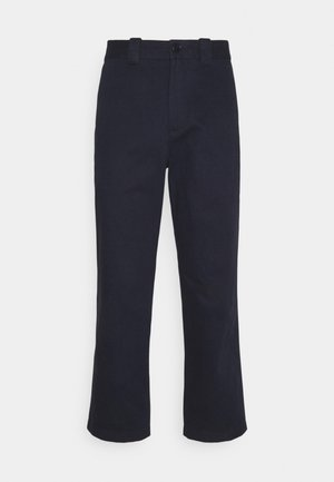 CROPPED RELAXED - Trousers - blue