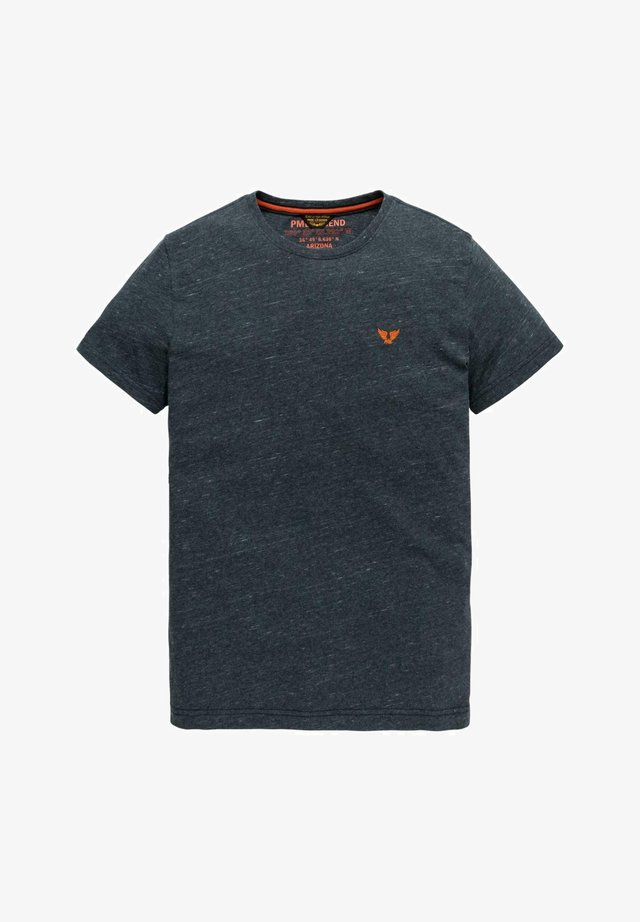 INJECTED YARN-DYE  - Basic T-shirt - dark blue