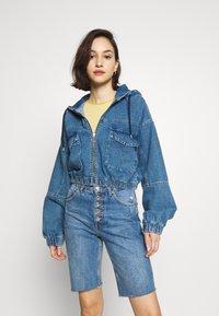 BDG Urban Outfitters - PATCH POCKET JACKET - Denim jacket - mid vintage - 0