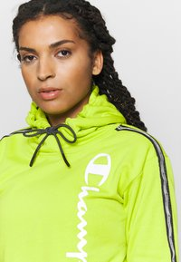 Champion - HOODED - Huppari - neon green