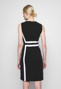 Calvin Klein - CONTRAST PANEL DRESS NS - Day dress - black - 2