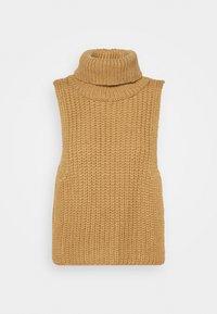 Who What Wear - TURTLENECK DICKIE - Jumper - beige - 0