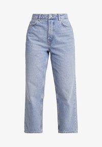 Selected Femme Petite - SLFKATE STRAIGHT MID - Relaxed fit jeans - medium blue denim - 5