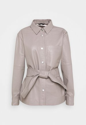 OANNAIW - Leather jacket - ash grey
